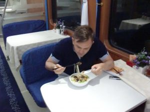 Dinner on a Chinese Train