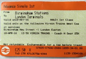 First Class Ticket