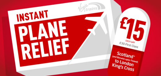 Virgin Trains East Coast Plane Relief