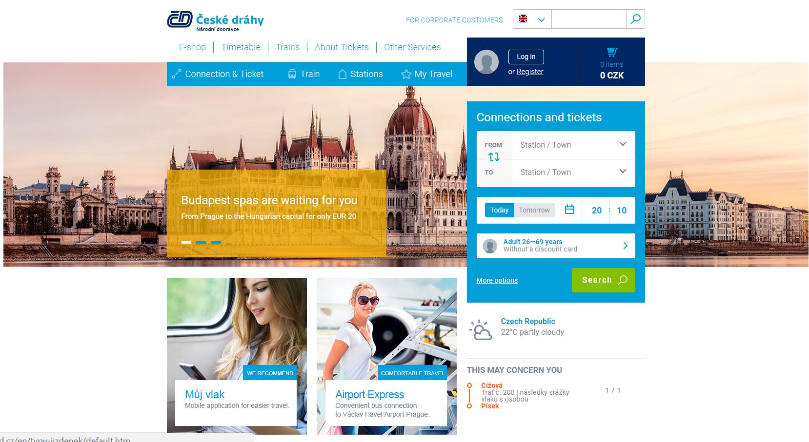 Czech Railways Home Page