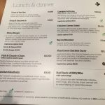 Stena Plus Lounge Menu