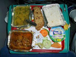 Indian Railways Shatabdi Dinner Service