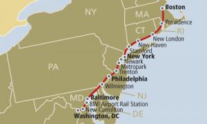 Amtrak Acela Route Map
